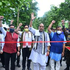 Why Arunachal residents are upset by an event at which Rajnath Singh inaugurated 12 new roads