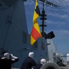 Watch: Did Russia fire 'warning shots' at British warship? A BBC journalist's account