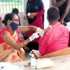Caught on camera: Nurse in Bihar unpacks syringe and uses it without filling it with the vaccine