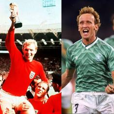 Watch: From 1966 Fifa World Cup final to twin semis in 1990s – the best England vs Germany matches