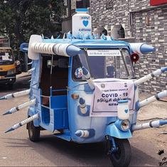'Covid-19 vaccine auto': How an art collective in Chennai is spreading awareness about vaccination