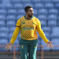 Third T20I: Tabraiz Shamsi inspires South Africa to thrilling one-run win against West Indies
