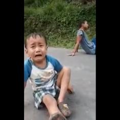 Watch: Little boy pleads and cries as chickens he raised are taken away for poultry in Sikkim