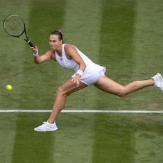 Wimbledon women's quarter-final wrap: Sabalenka reaches first Slam semi; Barty, Pliskova, Kerber win