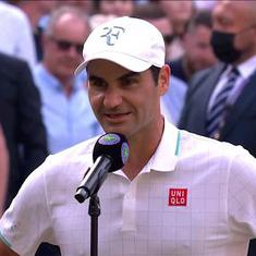 Watch: Roger Federer on Richard Gasquet's backhand and Centre Court's loyalty for his next match