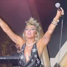Watch: Singer Miley Cyrus chants 'Free Britney' during her show in Las Vegas