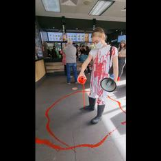 Watch: Vegan activist pours fake blood on KFC floor during animal abuse protest in Australia