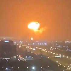 Watch: Loud explosion heard as fire breaks out on container ship in at Jebel Ali Port in Dubai