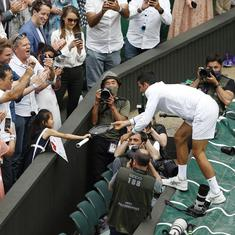 Watch: Novak Djokovic's lovely gesture to a kid in the crowd after his Wimbledon triumph