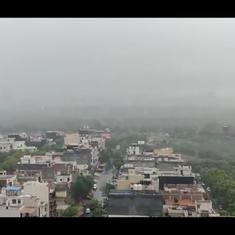 Watch: Delayed monsoon arrives in Delhi, promptly causes waterlogging, traffic jams, chaos