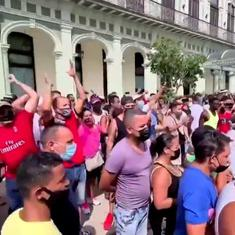 Cuba: Watch thousands of protestors hit the streets against the government's response to Covid-19