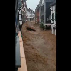 Watch: How sudden floods are ravaging Germany, Belgium, and the Netherlands