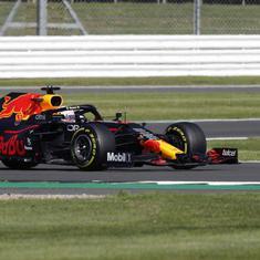 F1: Max Verstappen wins first 'strange' sprint race to claim British GP pole