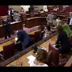 Watch: Frisky rat interrupts parliament session in Spain, sending lawmakers into panic