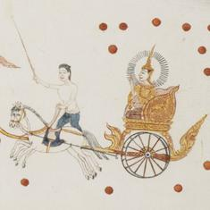 In Thai manuscript paintings, chariots are more than just vehicles for transportation
