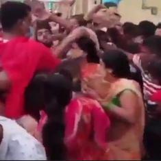 Watch: Near-stampede at Mahakaleshwar temple in Ujjain, Madhya Pradesh leaves many injured