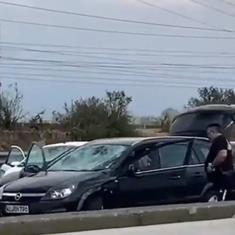 Watch: Violent hailstorm damages vehicles, injures people in northern Italy