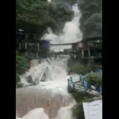 Watch: Water level in Kempty Falls, Mussourie rises alarmingly after heavy rainfall