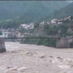 Watch: The river Chenab's water level in Kashmir rises dangerously following heavy rainfall