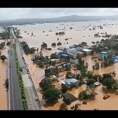 Watch: Drone video shows area of Kolhapur next to national highway submerged in water