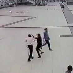 Caught on camera: Madhya Pradesh policemen, parking contractor enter into a fistfight in Ratlam