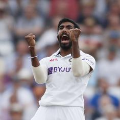 Watch: Jasprit Bumrah's 100th Test wicket – a superb inswinger to get rid of Ollie Pope
