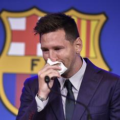 Watch: End of an era as tearful Lionel Messi explains Barcelona exit in farewell address