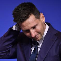 Lionel Messi hints at joining Paris St-Germain after tearful Barcelona exit