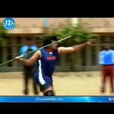 Watch: Actor Chiranjeevi's javelin throw in a 1999 film is going viral as India's 'first gold medal'