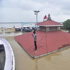 Varanasi: Pier development project inaugurated by Modi flooded as water level in Ganga rises