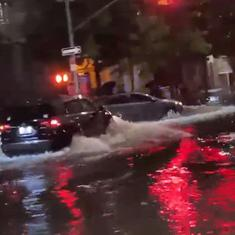 Watch: Tropical storm Henri causes heavy rainfall, flash floods in parts of New York City
