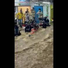 Hyderabad cloudburst leaves many parts of the city flooded