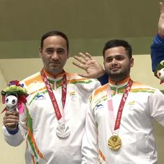 Watch: Recap of Manish Narwal-Singhraj's gold-silver performance and national anthem at Paralympics