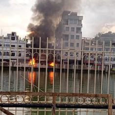 Tripura: CPI(M) claims BJP set fire to one of its party offices