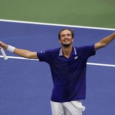 US Open: Daniil Medvedev ends Novak Djokovic's Calendar Slam bid to win first Major