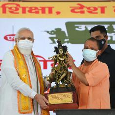 At a government programme to honour Jat icon, Modi woos marginal farmers ahead of UP elections