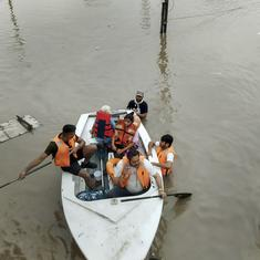 IMD issues red alert for Gujarat, several villages cut off after heavy rain in Saurashtra