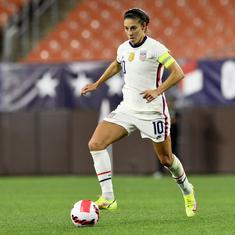Football: Carli Lloyd kicks off farewell tour with five goals in 9-0 rout of Paraguay