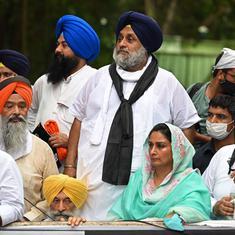 Farmers' march: Akali Dal leaders Sukhbir Singh Badal and Harsimrat Kaur detained in Delhi