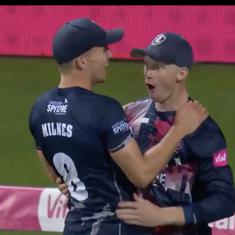 Watch: A ridiculous effort on the boundary line by Jordan Cox in Vitality Blast T20 final