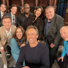 Watch: 'Brooklyn Nine-Nine' cast chats with late show host Seth Meyers after their series finale