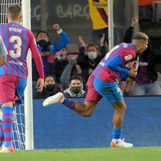 La Liga: Ronald Araujo's last-gasp goal helps lacklustre Barcelona salvage a point against Granada