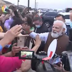 Watch: Indian diaspora welcomes Prime Minister Narendra Modi to Washington DC with flags and cheers