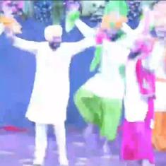 Watch: New Punjab Chief Minister Charanjit Singh Channi joins a bhangra performance by students