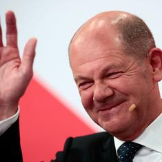 German election: Social Democrats narrowly beat Angela Merkel's conservative party