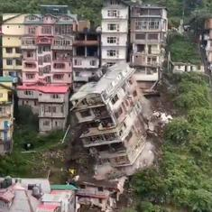 Caught on camera: The moment a seven-storeyed building collapses in Shimla, Himachal Pradesh