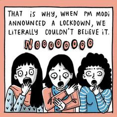 This comic illustrates the upheavals in the life of a young Indian woman in the pandemic