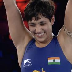 Wrestling World C'ships: Anshu Malik becomes first ever Indian woman to reach final