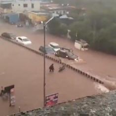 Watch: Flooded roads, traffic snarls in Pune after heavy rain