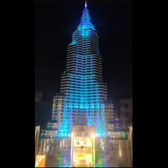 Watch: Dubai's Burj Khalifa has been recreated by a Durga Puja 'pandal' in Kolkata